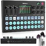 V8 Sound Card REMALL Sound Card V8サウンドカード ボイスチェンジャー bluetooth ミキサー 13の効果音 4種類音声変更 女声 ぼいすちぇんじゃー mixer 音楽 楽器 Phone/ipad iPhone