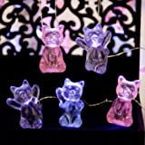 Impress Life Decorative Lights 3D Pet Cat String Lights, USB & Battery Powered with Remote 10 ft 30 LEDs Cute Kitten Animal F