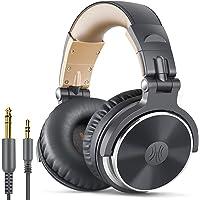 OneOdio ヘッドホン 有線 オーバーイヤーヘッドホン 二穴接続 DJ用 モニターヘッドホン マイク付き ヘッドフォ…