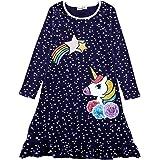 Cotton Dog Unicorn Print Girl Clothes Princess Party Girls' Cacual Dress for Girl