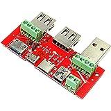 エスエスエーサービス USBマルチ端子変換アダプタ [ USB typeC、microB、MiniB、内蔵4ピン、Lightning ] MS-001