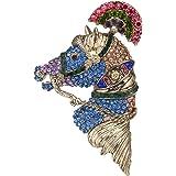 EVER FAITH Women's Austrian Crystal Vintage Inspired Horse Steed Brooch