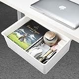 Desk Drawer[X-Large], GGIANTGO Under Desk Storage, Set for Office/Bedroom/Schoolroom/Kitchen, Self-Adhesive Under Desk Drawer