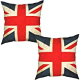 Nonebrand Vintage Style Union Jack Flag Throw Pillow Covers,British Style Decorative Pillowcase Double Side Print Cushion Cov