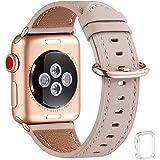 WFEAGL コンパチブル Apple Watch バンド,は本革レザーを使い、 iwatch Series 6/5/4…