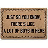ZQH Back Door Mat Just So You Know There's Like A Lot of Boys in Here Doormat Just So You Know Doormats (23.6 X 15.7 in) Non-