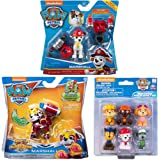 Paw Patrol Toys | Mighty Pups | 3-Pack | Marshall Action Figures with Jetpacks & Water Rescue Pack Cake Topper | for Kids Gir