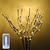 YXYQR Artificial LED Branch Lights USB Plug in/Battery Powered with Remote Timer 29.5 Inch 80leds Vase Decorative Lighted Bra