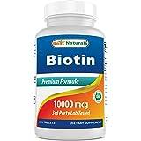 Best Naturals Biotin (Also Called Vitamin B7), 10,000 mcg, 365 Days Supply (1 Year Supply), 365 Tablets