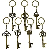 Key Bottle Openers - Skeleton Key Opening Beer Bottles Soda Bottles Keychain Key Ring for Tailgate Party or Wedding Party, Fe