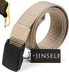 JINSELF 【グレードアップ版1】 S級永久ベルト 純正ナイロン100% 正規YKKバックル メンズ ミリタリー サバゲー