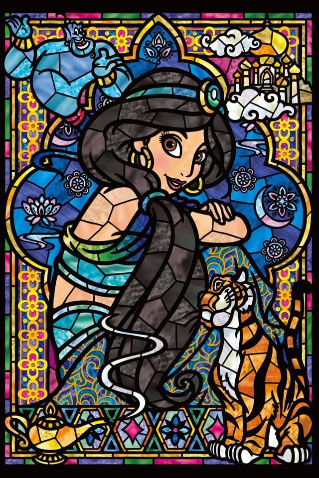 ディズニー ジャスミン ステンドグラス iPhone(640×960)壁紙 画像52256 スマポ