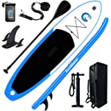 """FunWater All Round Paddle Board 11'Length 33"""" Width 6"""" Thick Inflatable Sup with Adjustable Paddle,ISUP Travel Backpack,Leash"""