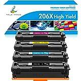 True Image Compatible Toner Cartridge Replacement for HP 206X 206A W2110A W2110X HP Color Laserjet Pro M255dw MFP M283fdw M28