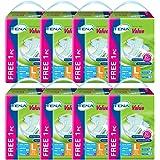 TENA Value Diaper free 1 Piece Case, L, 10 Count (Pack of 8)