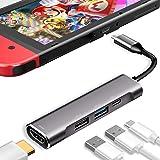 3XI Type C ハブ 4in1 USB C 4K HDMI出力 PD 充電対応 USB3.0 USB2.0 多機能アダプターサポートNintendo Switch(任天堂スイッチ)/Samsung Dex Mode/MacBook /MacBo