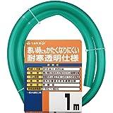 タカギ(takagi) ホース 耐寒ソフトクリア15×20 001M 1m 非耐圧 透明 耐寒 PH20015CD001TM