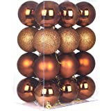 Christmas Balls Ornaments for Xmas Tree-Shatterproof Christmas Tree Decorations Large Hanging Ball Bronze 3.2""