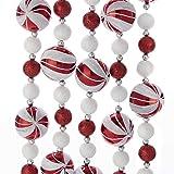 Kurt Adler 6-Foot Glitter Candy Ball Garland