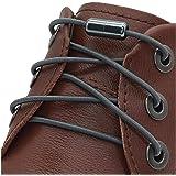 [AIJIABEI] が2足 結ばない靴紐くつひも ゴム 伸縮性靴ひも シューレース 革靴金属カプセル 子供老人