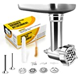 Metal Food Grinder Attachments Compatible with All KitchenAid Stand Mixers, Durable Meat Processor Accessories, Sausage Stuff
