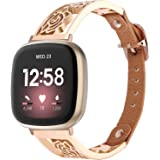 VISOOM Metal Bracelet Compatible with Fitbit Versa 3/ Fitbit Sense Watch Band for Women Men-Stainless Steel Loop Replacement