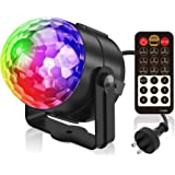 Party Light, Splaks Sound Activated 5 Colour 18 Modes Disco Light Remote Control Rotating Stage Light Strobe Lamp Ball Light