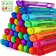 Laxdacee Bubble Wands Party Favors Pack of 64, Mini Neon Bubble Wands   Odor-Free Non-Toxic Kids' Bath Toy/Birthday Treats Bu