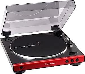 audio-technica フルオートレコードプレーヤー レッド AT-LP60X RD
