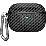 Taosings Airpods pro Case Cover with Keychain, Cute Carbon Fiber Texture AirPods pro Protective Cases Skin Cover for Men Wome