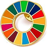 国連本部限定販売 SDGs バッジ SDGs ピンバッジ 2020オリンピック記念 最新仕様 SDGs 国連 ピンバッチ…