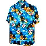 Pacific Legend Sunset Beach Palm Tree Hawaiian Shirt