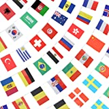 ANLEY 184Ft 200 Countries String Flag - International Bunting Banners for Party Decorations, Bars, Sports Clubs, School Festi