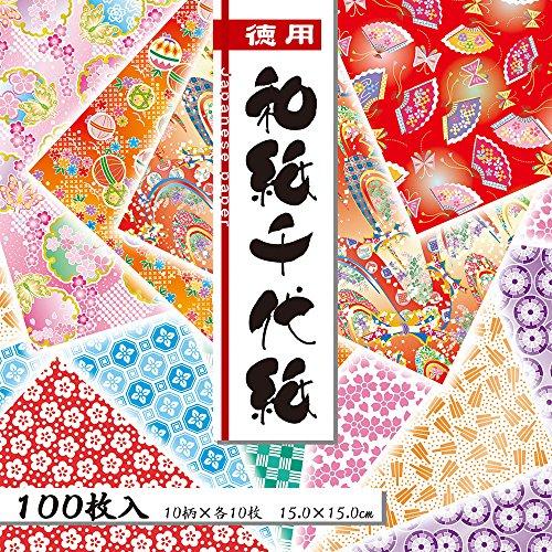 トーヨー 徳用和紙千代紙 15cm 100枚 018033 2冊