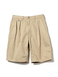 Twill Pleated Shorts 11-25-1542-874: Beige