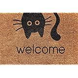 Cranberry Mats Designer Natural Coir Non Slip Doormat for Patio, Front Door, All Weather Exterior Doors (16 X 24 Inch)