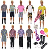 EuTengHao 17 Pcs Doll Clothes and Accessories for Ken Dolls Includes 8 Different Wear Clothes Shirt Jeans,4 Pairs of Shoes fo