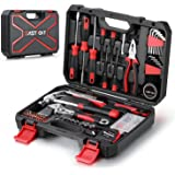 Eastvolt 128-Piece Home Repair Tool Set, Tool Sets for Homeowners, General Household Hand Tool Set with Storage Toolbox, EVHT