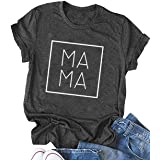 Mama Shirt for Women Funny Shirt Mom Life Shirt Cute Graphic Tee Shirt