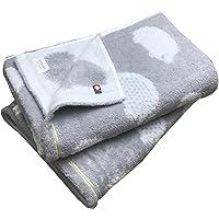 今治タオル ブランド認定 ハリネズミ柄 バスタオル 2枚組 60x120cm (グレー2枚)