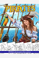 Pirates. Grayscale Coloring Book: Coloring Book for Adults , Relaxing Coloring Pages ペーパーバック