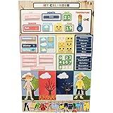 My First Daiily Magnetic Learning Calendar for Kids, Educational Calendar for Fridge or Wall, Kids Preschool & Play Based Wea