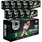 1000 Synthetic Vinyl Gloves Small S Case Powder Free, (100 of 10) Latex Free Extra Strong Food