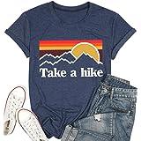 MAXIMGR Take A Hike T-Shirt Women Hiking Vacation Casual Shirt Top Short Sleeve Hiker Tee Tops