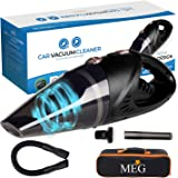 MEG Handheld Car Vacuum Cordless, Rechargeable,106W Lithium Battery, Small&Lightweight, Vacuum Cleaner, Strong Aluminum Fan,