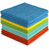 AIDEA Microfiber Cleaning Cloths Edgeless Softer, More Absorbent, Lint-Free, Wash Cloth for Home, Kitchen, Car, Window (12in.
