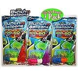 JATEN for Zuru Bunch O Balloons Instant 100 Self-Sealing Water Balloons Complete Gift Set Bundle, 3 Packs(300 Balloons Total)