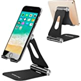 Adjustable Cell Phone Stand, Yoshine iPhone Desk Stand Foldable Mobile Phone Stand Portable iPad Stand Tablet Stand, Universa