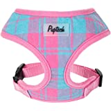 PUPTECK Soft Mesh Tiny Dog Harness Padded Paid Design Pet Safety Vest for Small Puppies and Doggie Pink Extra Small