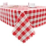 """Lamberia Vinyl Tablecloths for Rectangle Tables 60"""" x 102"""", Durable Spill Stain Proof Table Cover for Kitchen Dining & Kitche"""